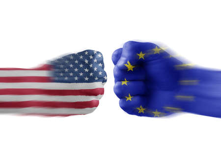 usa x eu Stock Photo