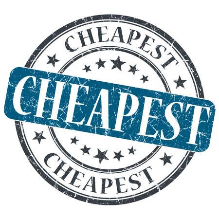 Cheapest blue grunge round stamp on white background photo