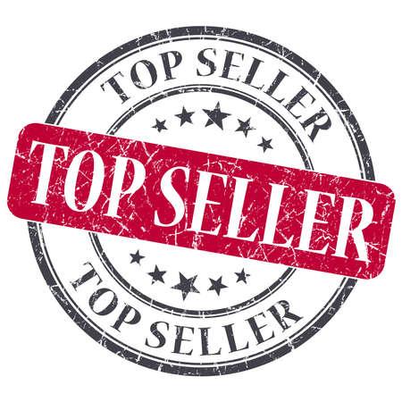 Top Seller red grunge round stamp on white background