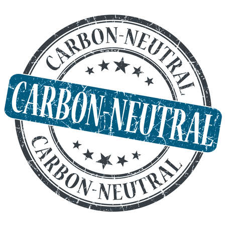 carbon neutral: Carbon Neutral blue grunge round stamp on white background Stock Photo