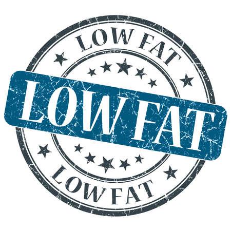 Low Fat blue grunge round stamp on white background photo