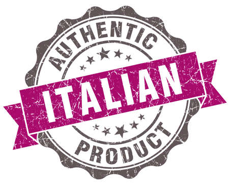 Italian product violet grunge retro style isolated seal photo