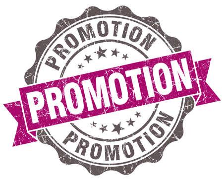 Promotion violet grunge retro style isolated seal photo