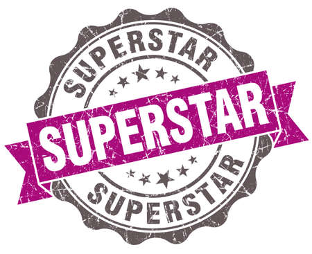 superstar: Superstar violet grunge retro style isolated seal