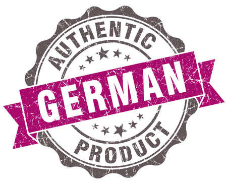 German product violet grunge retro style isolated seal photo