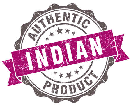 Indian product violet grunge retro style isolated seal photo