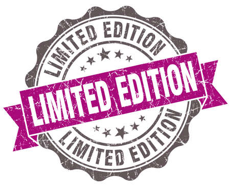 limited: Limited edition violet grunge retro style isolated seal