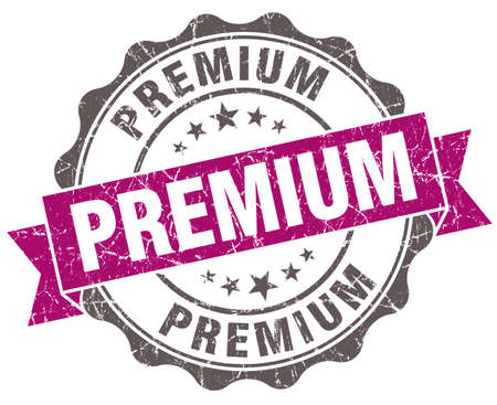 Premium violet grunge retro style isolated seal photo
