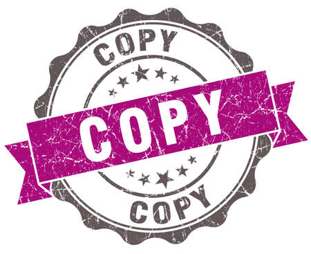replicated: Copy violet grunge retro style isolated seal Stock Photo