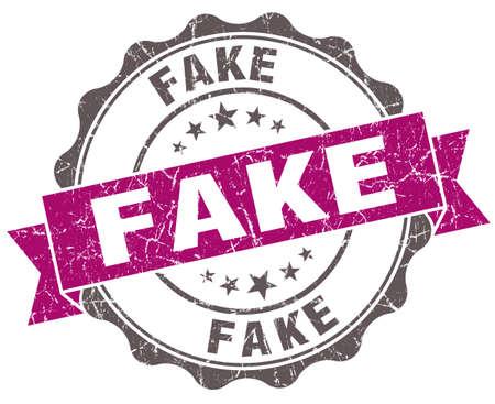 untrue: Fake violet grunge retro vintage isolated seal