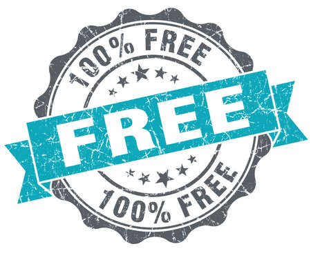 freebie: Free turquoise grunge retro vintage isolated seal