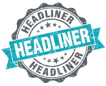headliner: Headliner turquoise grunge retro vintage isolated seal