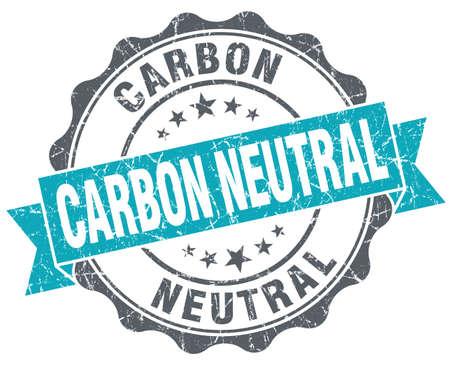 炭素中立的なターコイズ グランジ レトロ ビンテージ分離シール