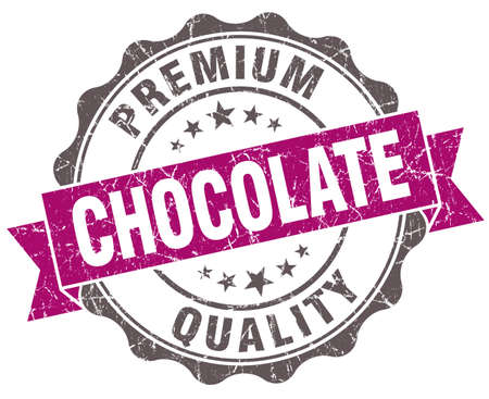 Chocolate violet grunge retro vintage isolated seal photo