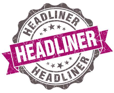 headliner: Headliner violet grunge retro vintage isolated seal