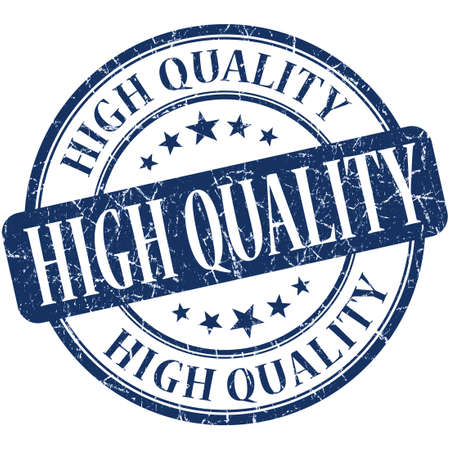 rated: High quality blue round grungy vintage rubber stamp Stock Photo
