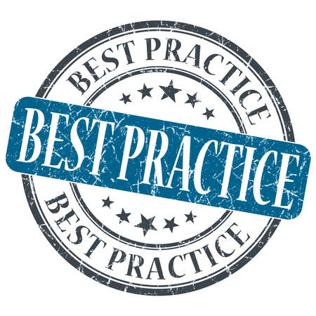 practice: Best practice blue grunge textured vintage isolated stamp