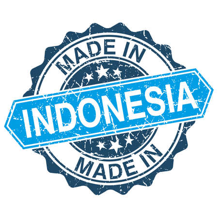 Made in Indonesia vintage stamp isolated on white background Vector