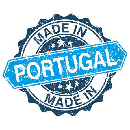 made in portugal: Made in Portugal vintage stamp isolated on white background