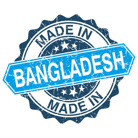 made in Bangladesh vintage stamp isolated on white background Vector