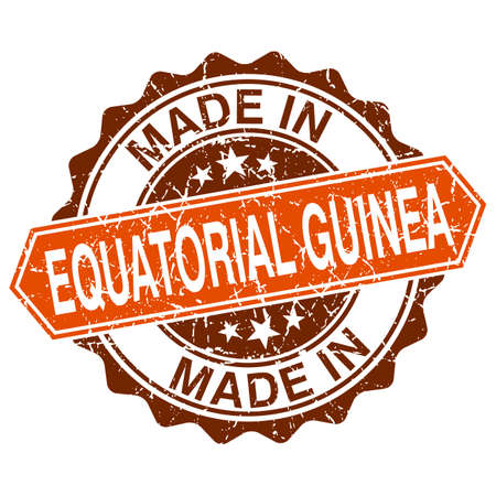 equatorial guinea: made in Equatorial Guinea vintage stamp isolated on white background