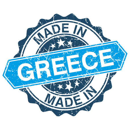 made in greece stamp: made in Greece vintage stamp isolated on white background Illustration