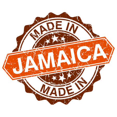 made in Jamaica vintage stamp isolated on white background Vector