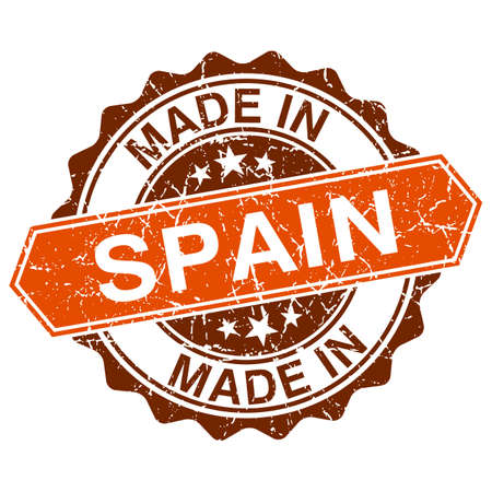made in spain: made in Spain vintage stamp isolated on white background