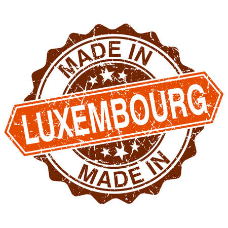 made in Luxembourg vintage stamp isolated on white background Vector