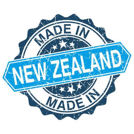 made in New Zealand vintage stamp isolated on white background Vector