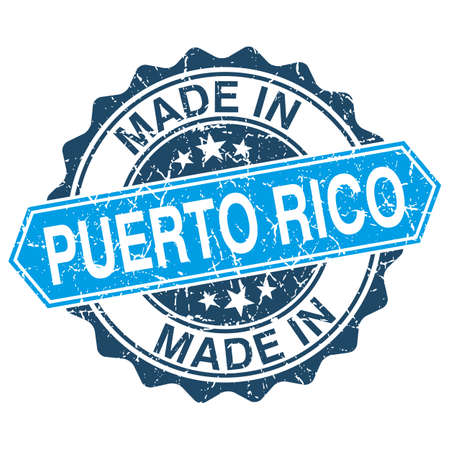 made in Puerto Rico vintage stamp isolated on white background Vector