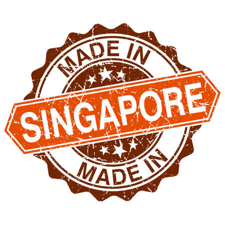 made in Singapore vintage stamp isolated on white background Vector