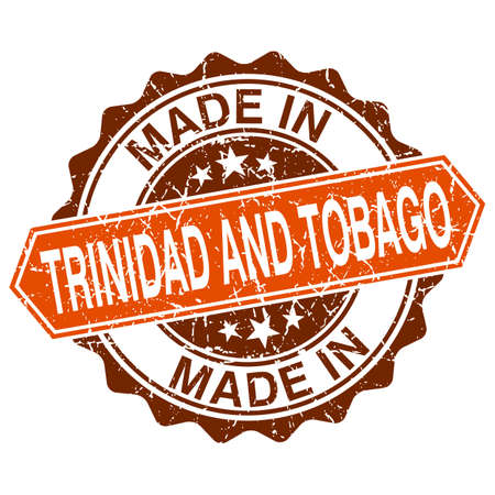 made in Trinidad and Tobago vintage stamp isolated on white background Vector