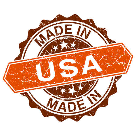 made in USA vintage stamp isolated on white background Vector