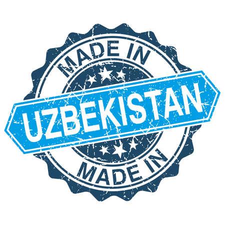 oezbekistan: gemaakt in Oezbekistan vintage stempel op een witte achtergrond