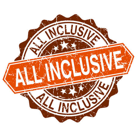 inclusive: All inclusive grungy stamp isolated on white background Illustration