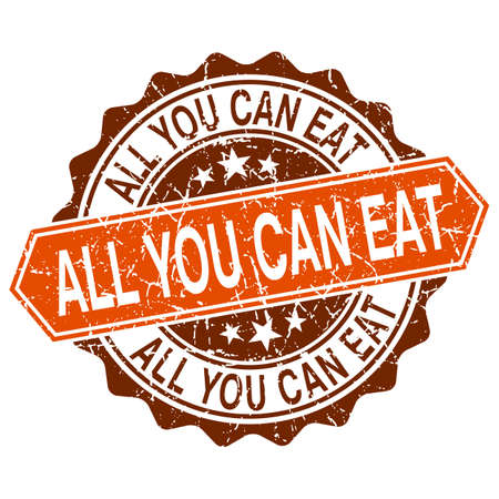 All you can eat grungy stamp isolated on white background Vector