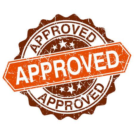 approbation: Approvato timbro grungy isolato su sfondo bianco