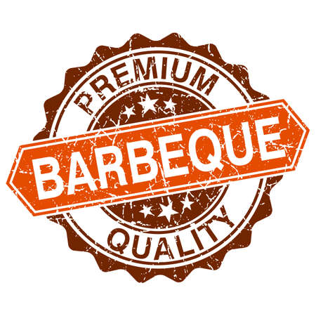 Barbeque grungy stamp isolated on white background Vector