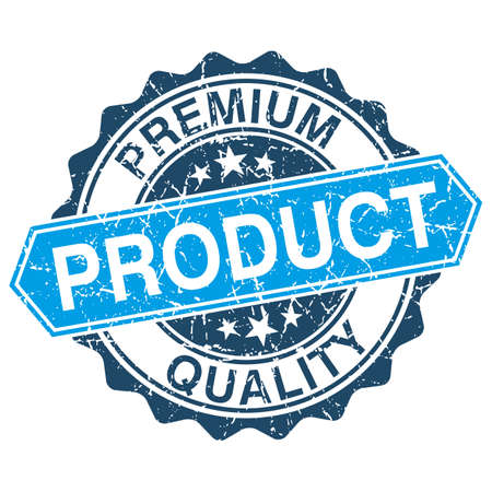 quality product: Premium quality product grungy stamp isolated on white background Illustration