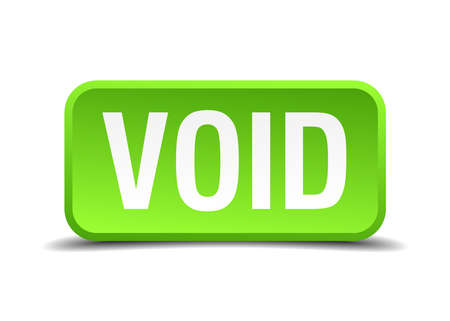 void: Void green 3d realistic square isolated button Illustration