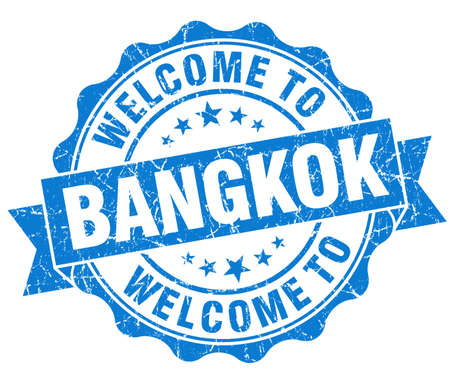 best location: welcome to Bangkok blue vintage isolated seal