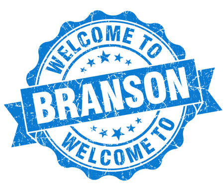 best location: welcome to Branson blue vintage isolated seal