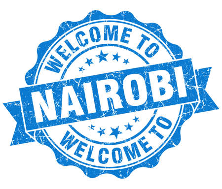 welcome to Nairobi blue vintage isolated seal Stock Photo