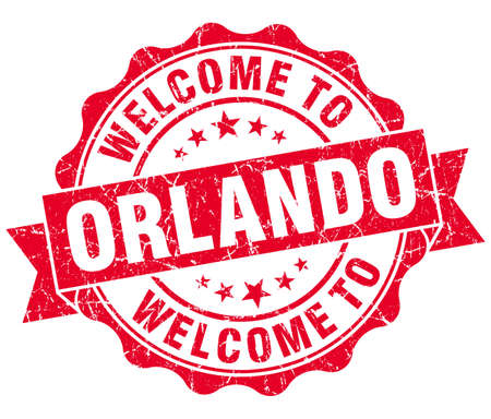 orlando: welcome to Orlando red vintage isolated seal Stock Photo