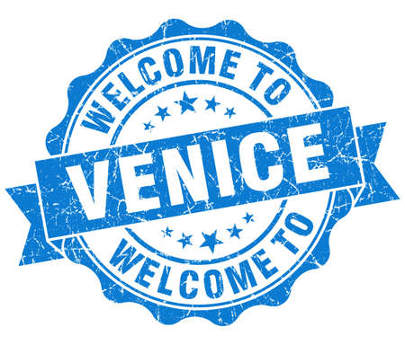 welcome to Venice blue vintage isolated seal photo