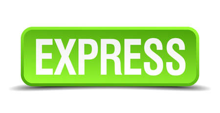 obvious: Express green 3d realistic square isolated button