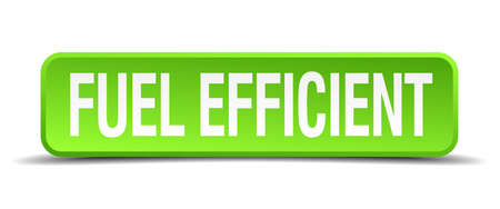 propellant: fuel efficient green 3d realistic square isolated button Illustration