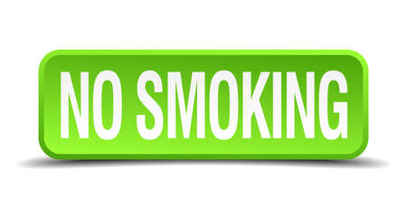 interdict: no smoking green 3d realistic square isolated button