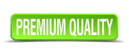 recompense: premium guality green 3d realistic square isolated button